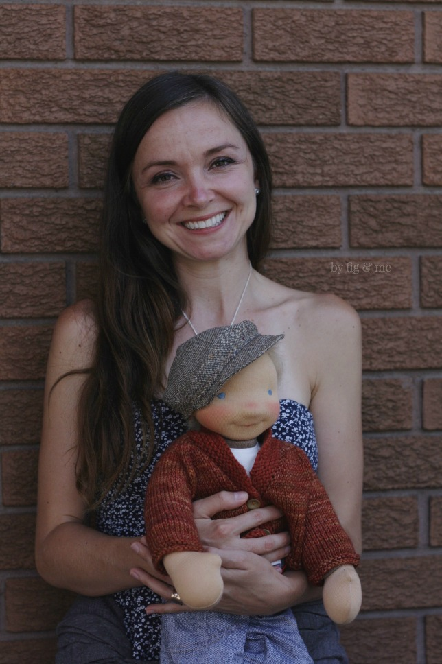A dolly mama holding her very own doll. It's beyond awesome to deliver dolls by hand, gotta do it more often I say. By Fig and Me.