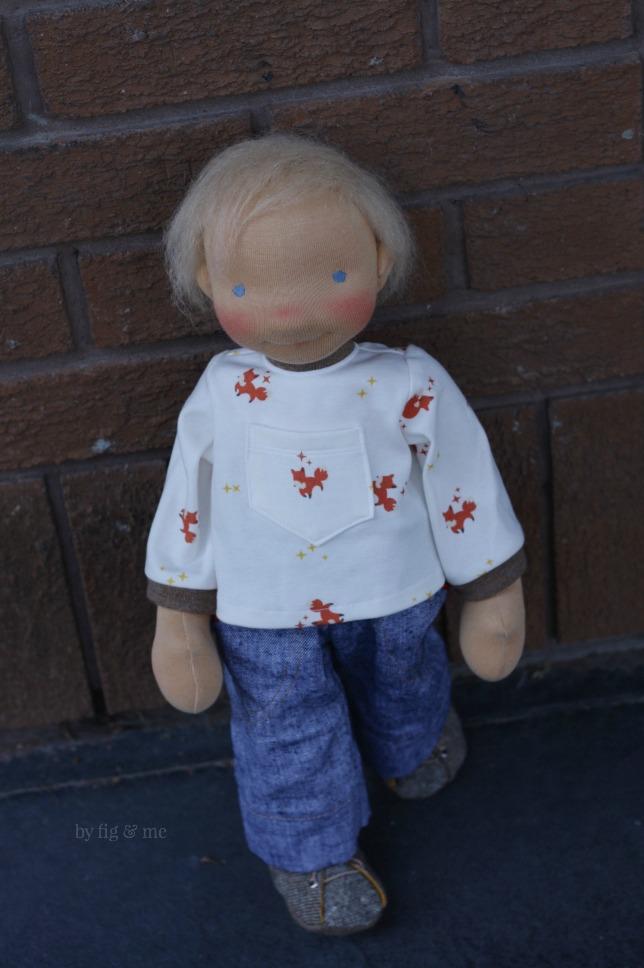 Little Caleb, a custom doll by Fig and Me.