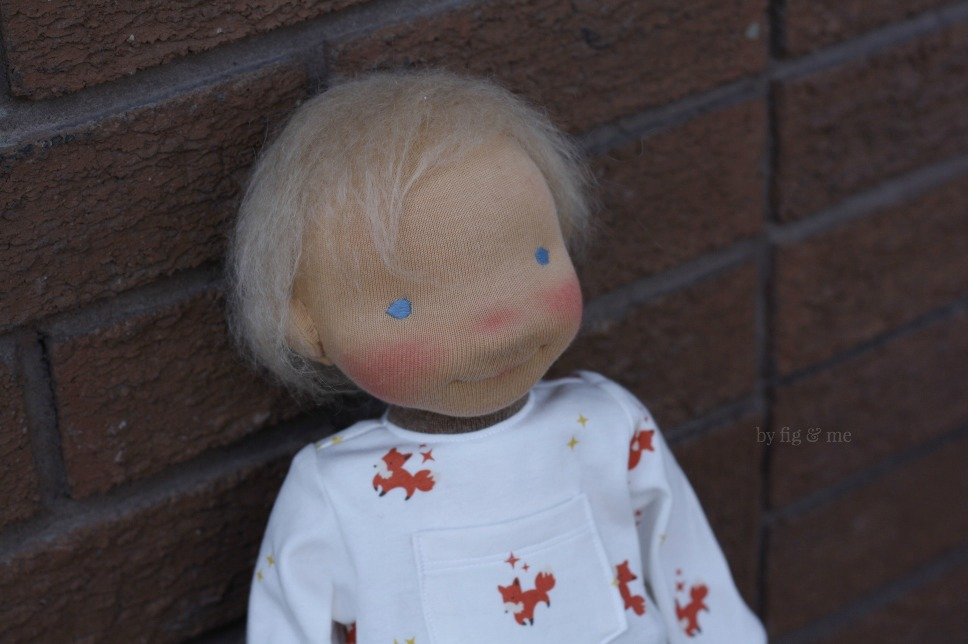 Little Caleb, a waldorf-inspired cloth doll by Fig and Me.