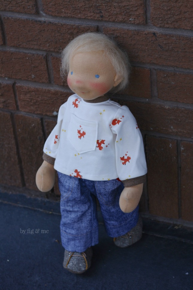 Little Caleb, a natural waldorf-inspired doll by Fig and Me.