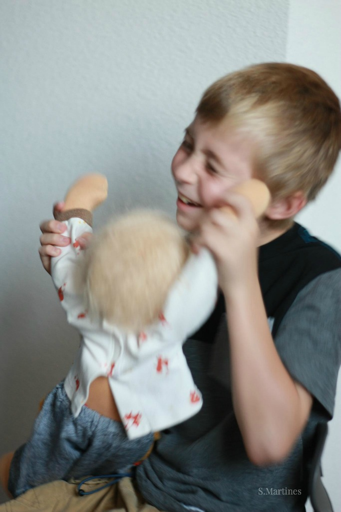 Little boys and their dolls, by Fig and Me.