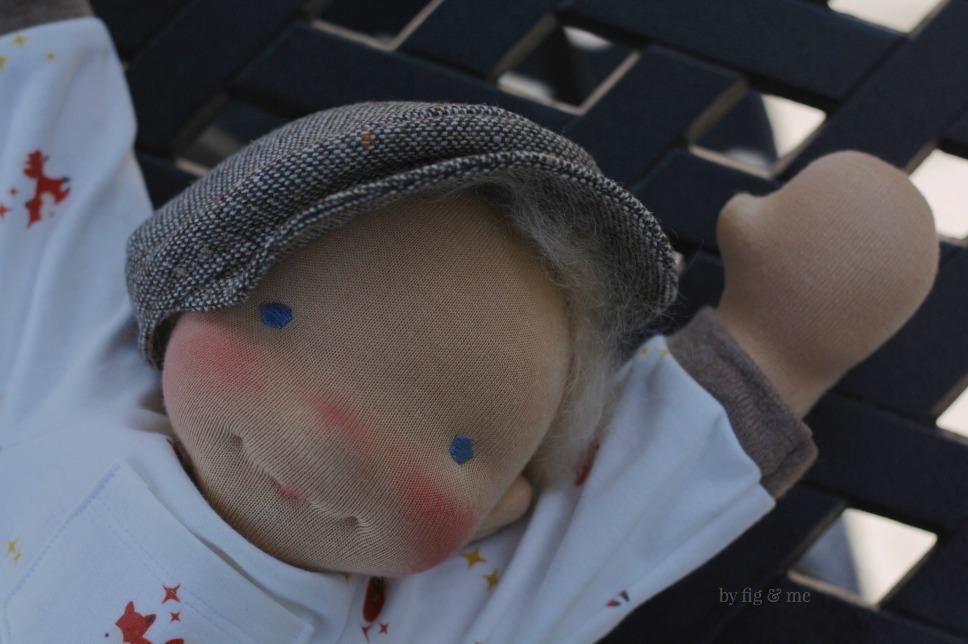 Hi Mom! Little Caleb, a custom doll by Fig and me.