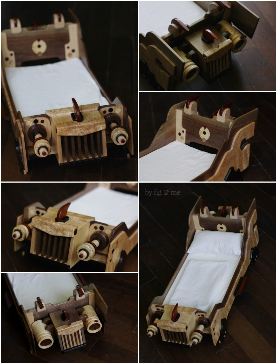 Four star ship beds for natural waldorf-style dolls, by Fig and Me.