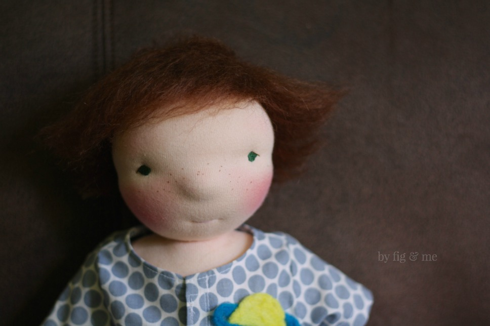 Moonie, a 16 inches tall natural doll, waldorf inspired, by Fig and Me.