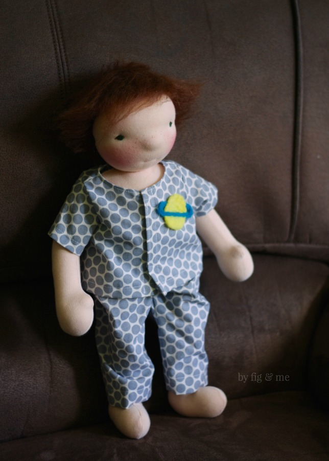 Moonie, a waldorf style doll by Fig and Me.