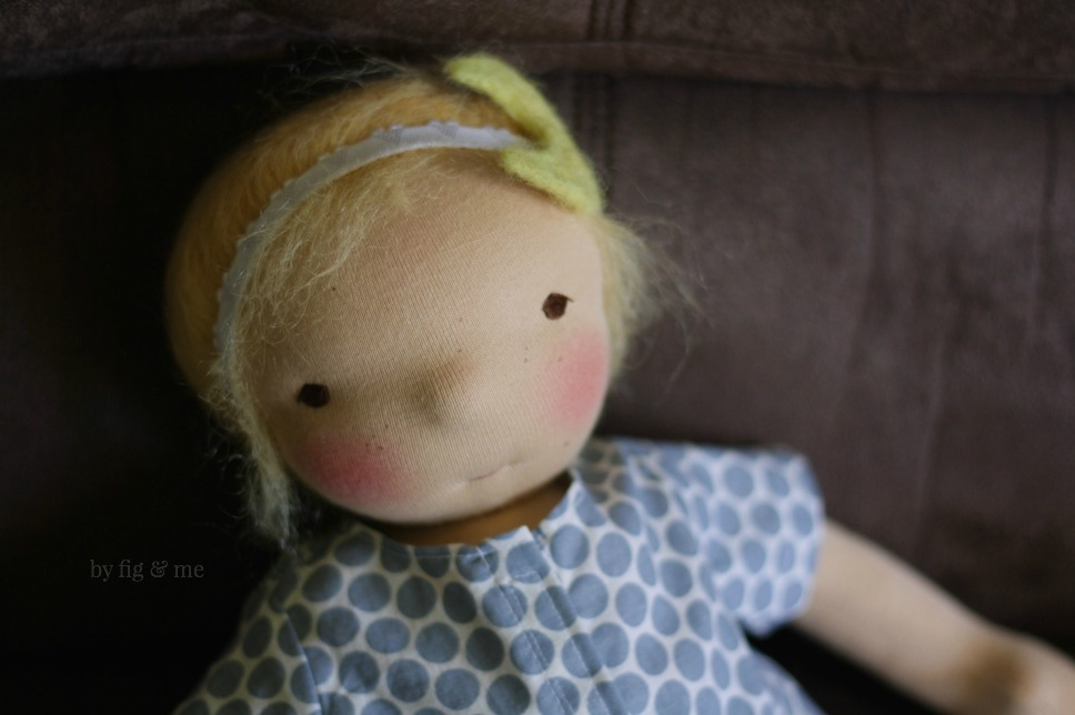 Luna, a waldorf inspired doll by Fig and Me.
