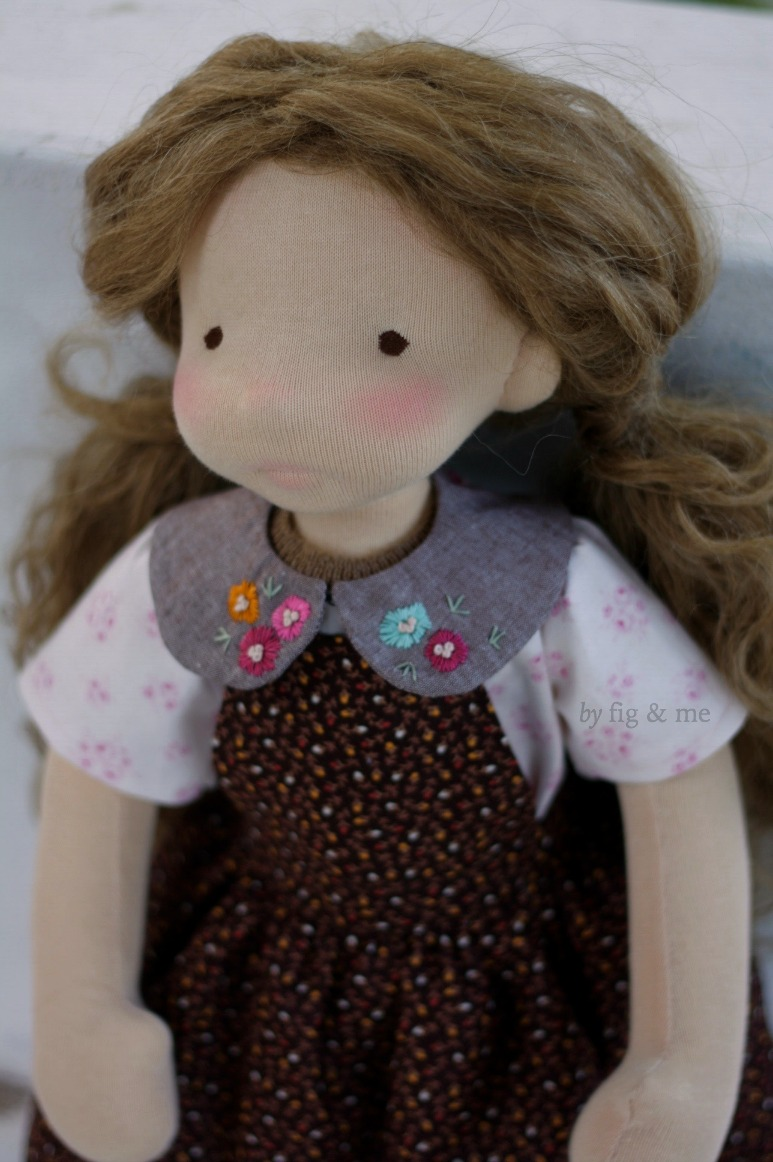 Little Hester, a natural cloth doll by Fig and Me.