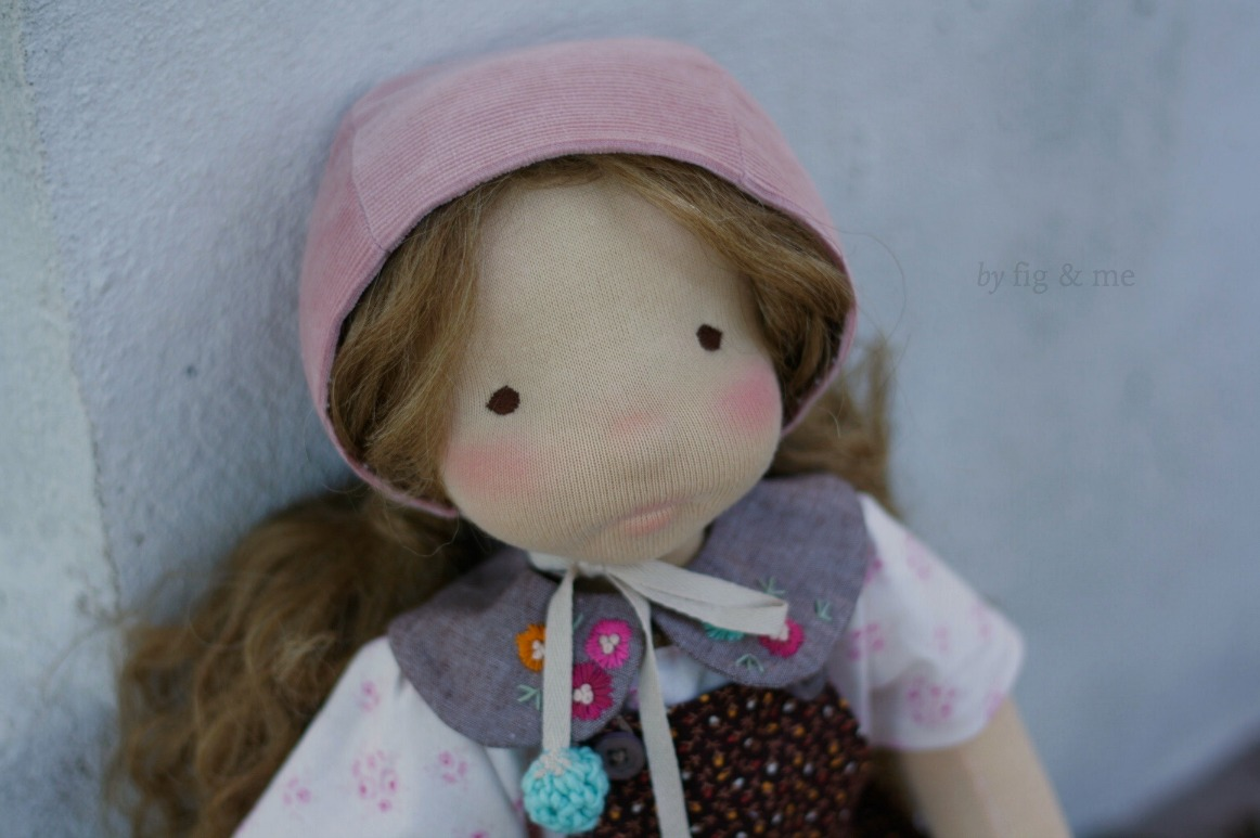 Little Hester, a cloth doll by Fig and Me.