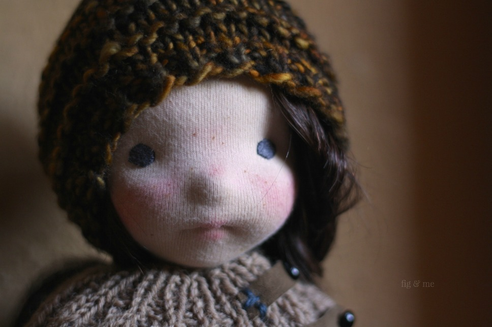 Sweet Hepsibah, a natural fiber art doll by Fig and Me.