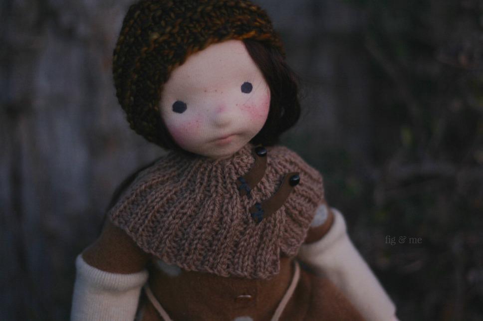 Hepsibah, a natural fiber art doll by Fig and Me.