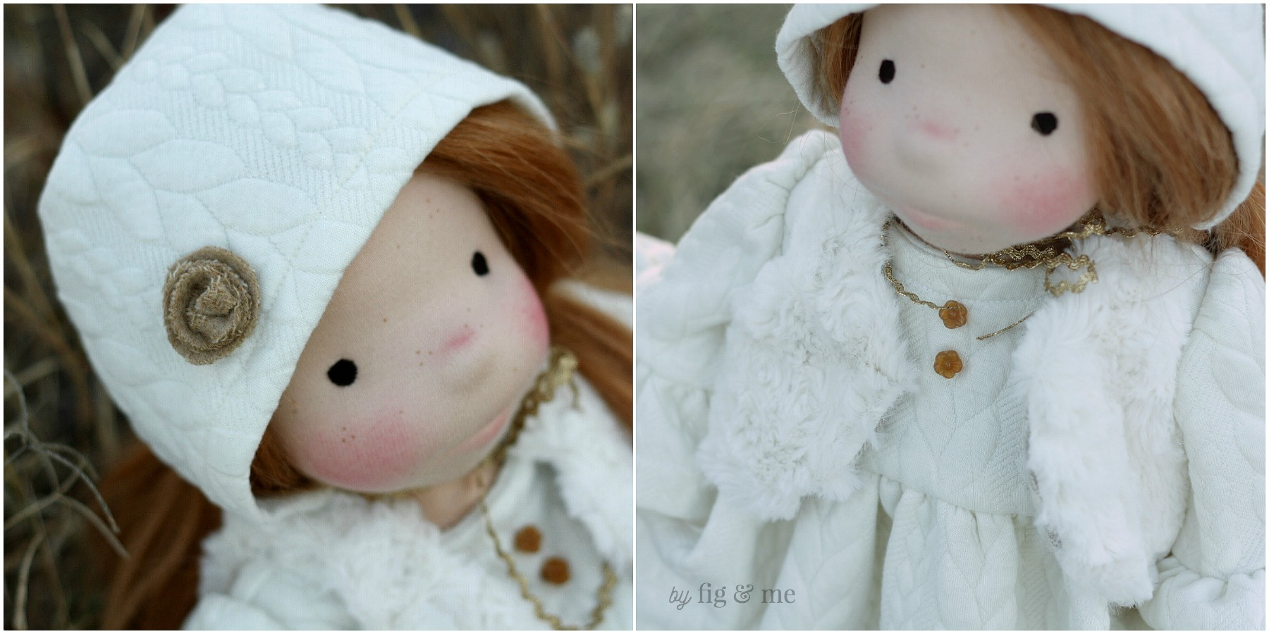 Little details of Pippa's clothing, by Fig and Me.