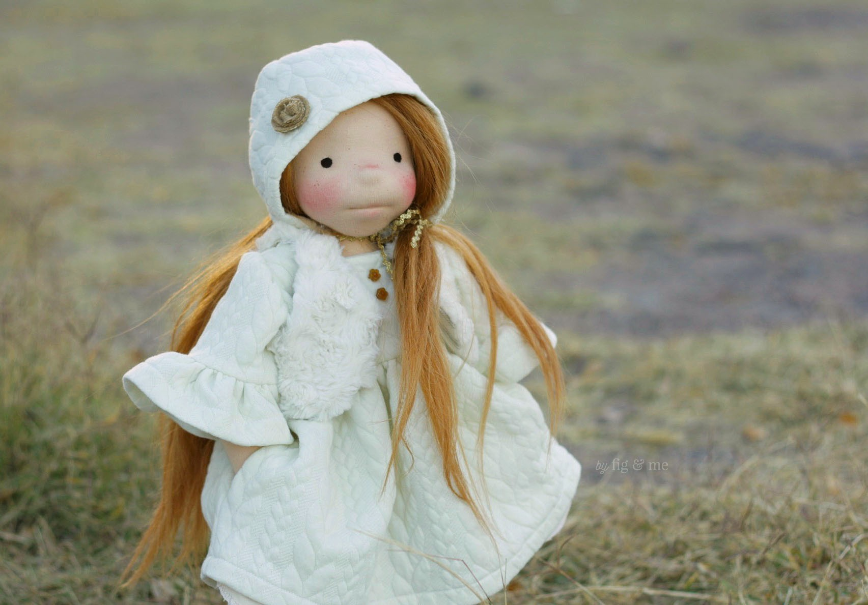 Pippa, in her winter clothes. By Fig and Me.