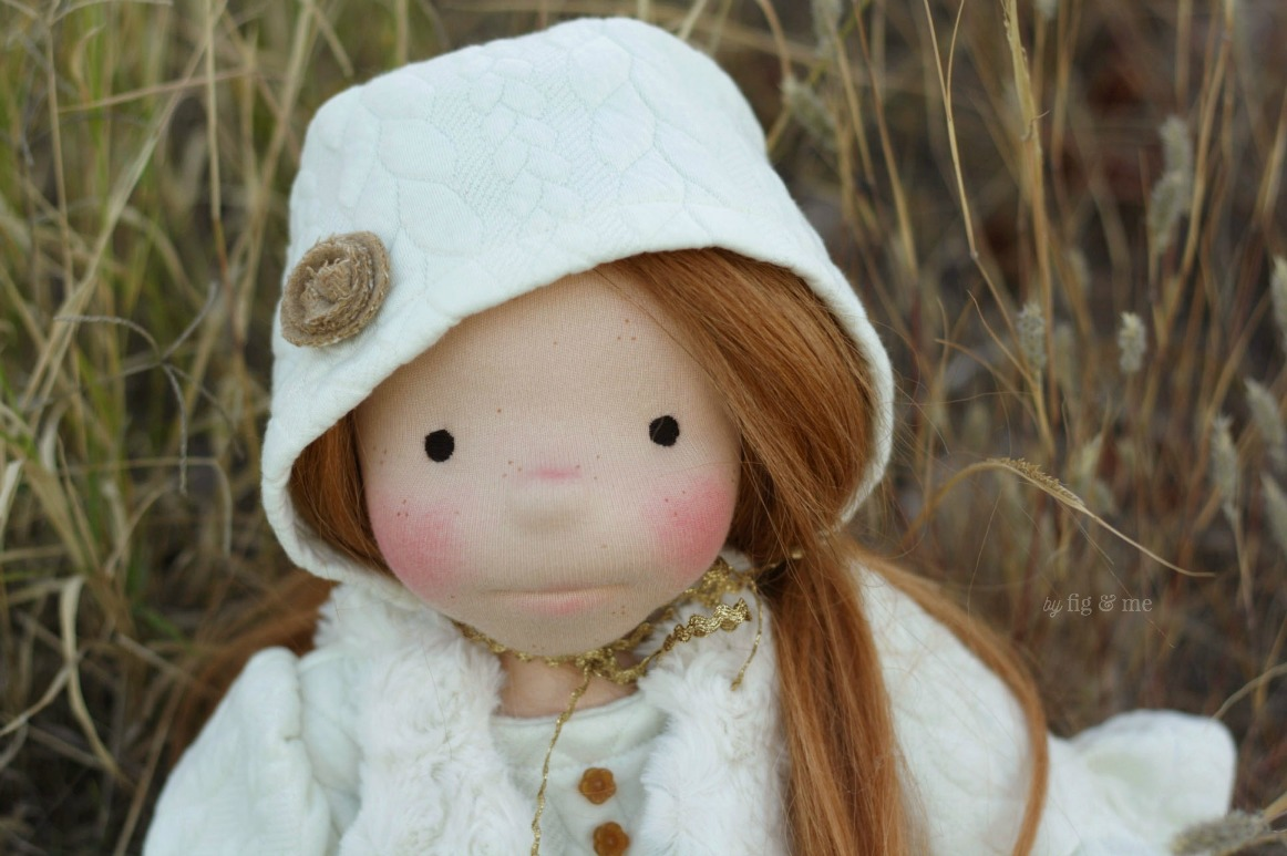 Little Pippa, a waldorf inspired doll by Fig and Me.