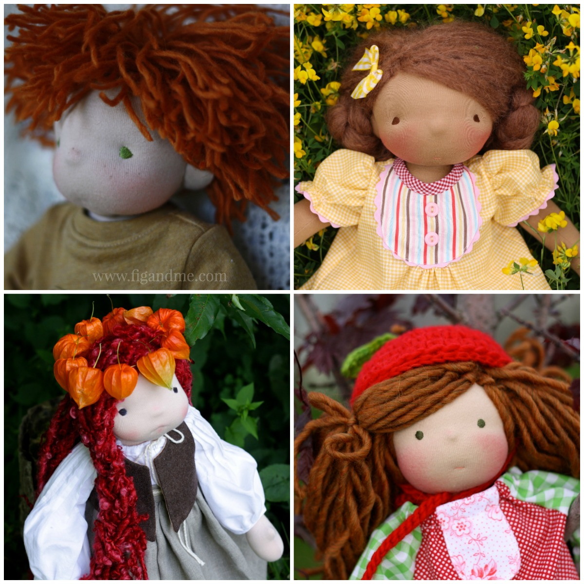 Weebee Crochet Doll - How to sew on the hair cap & how well to ... | 1000x1000