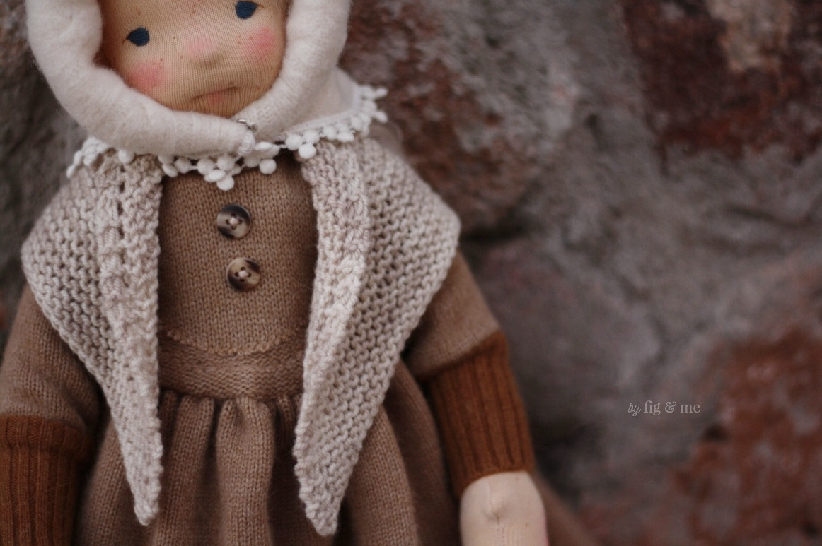 Anwen, a natural fiber art doll by Fig and Me.
