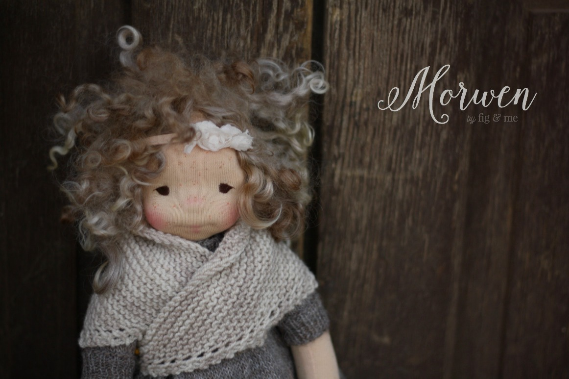 Morwen, a natural cloth art doll by Fig and Me.