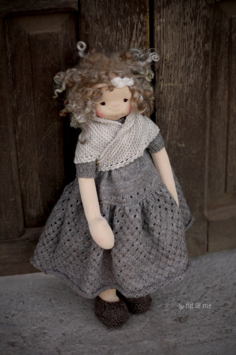 Morwen in her long dress, by Fig and Me.
