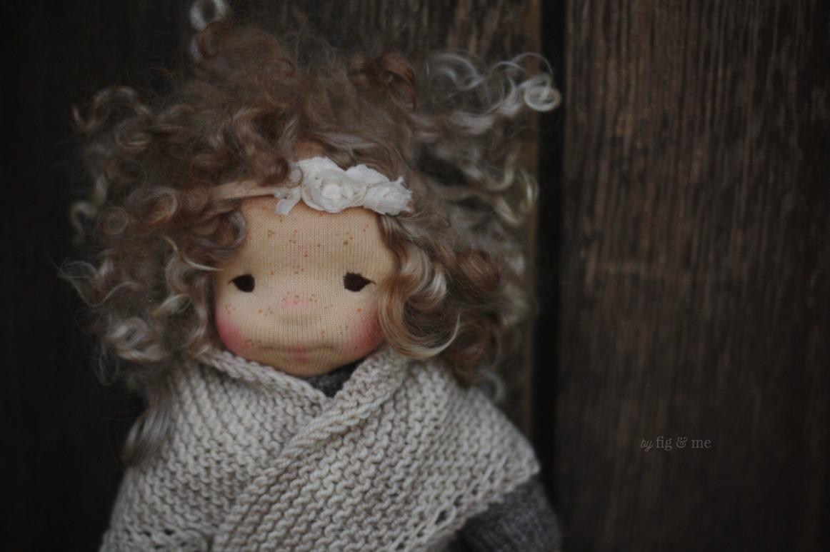 Morwen, a natural fiber art doll by Fig and Me.