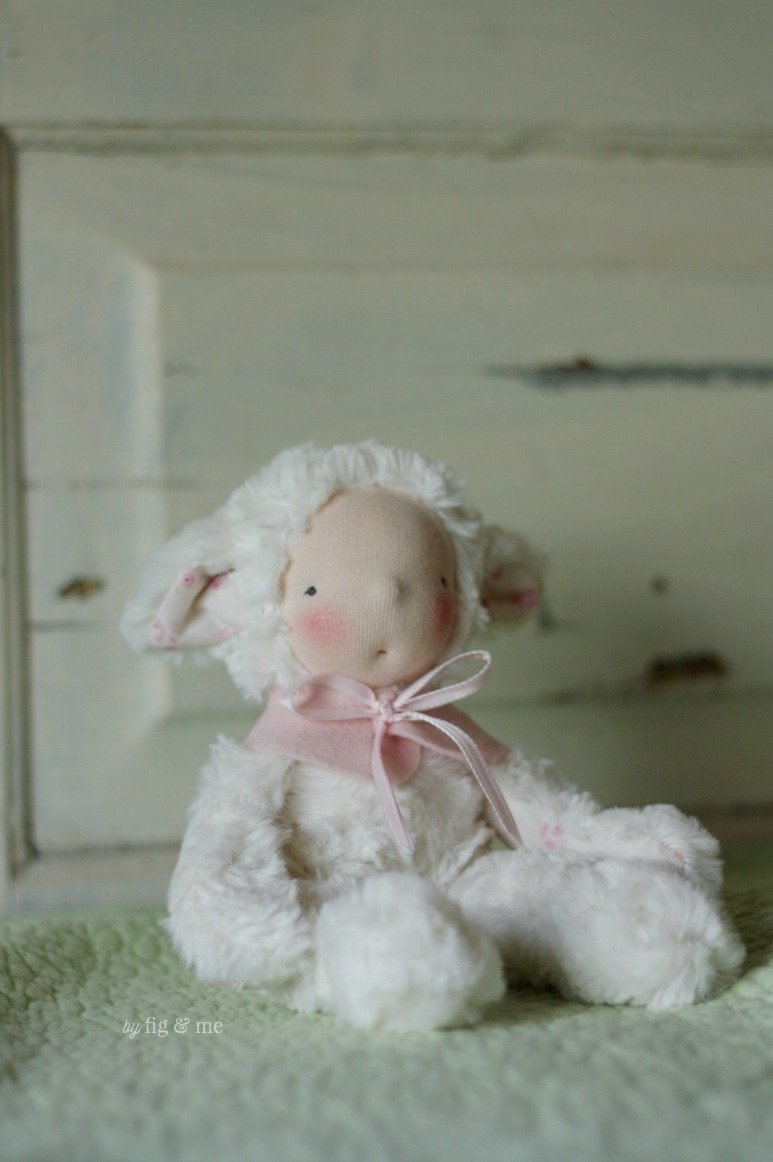 A spring baby lamb, by Fig and Me.