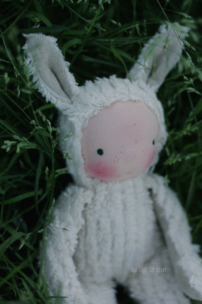 A spring baby bunny, by Fig and Me.
