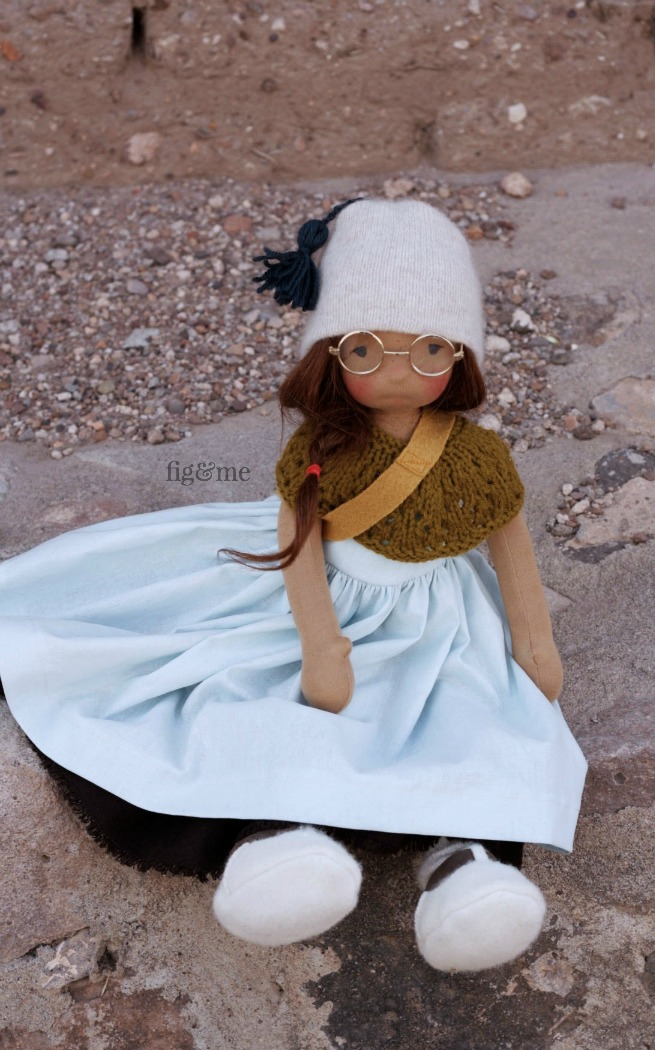 Asia, a Petite Fig doll by Fig and Me.