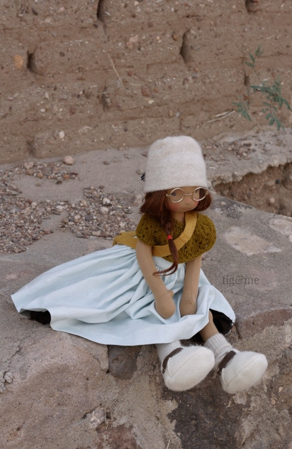Asia, a natural fiber art doll by Fig and Me.