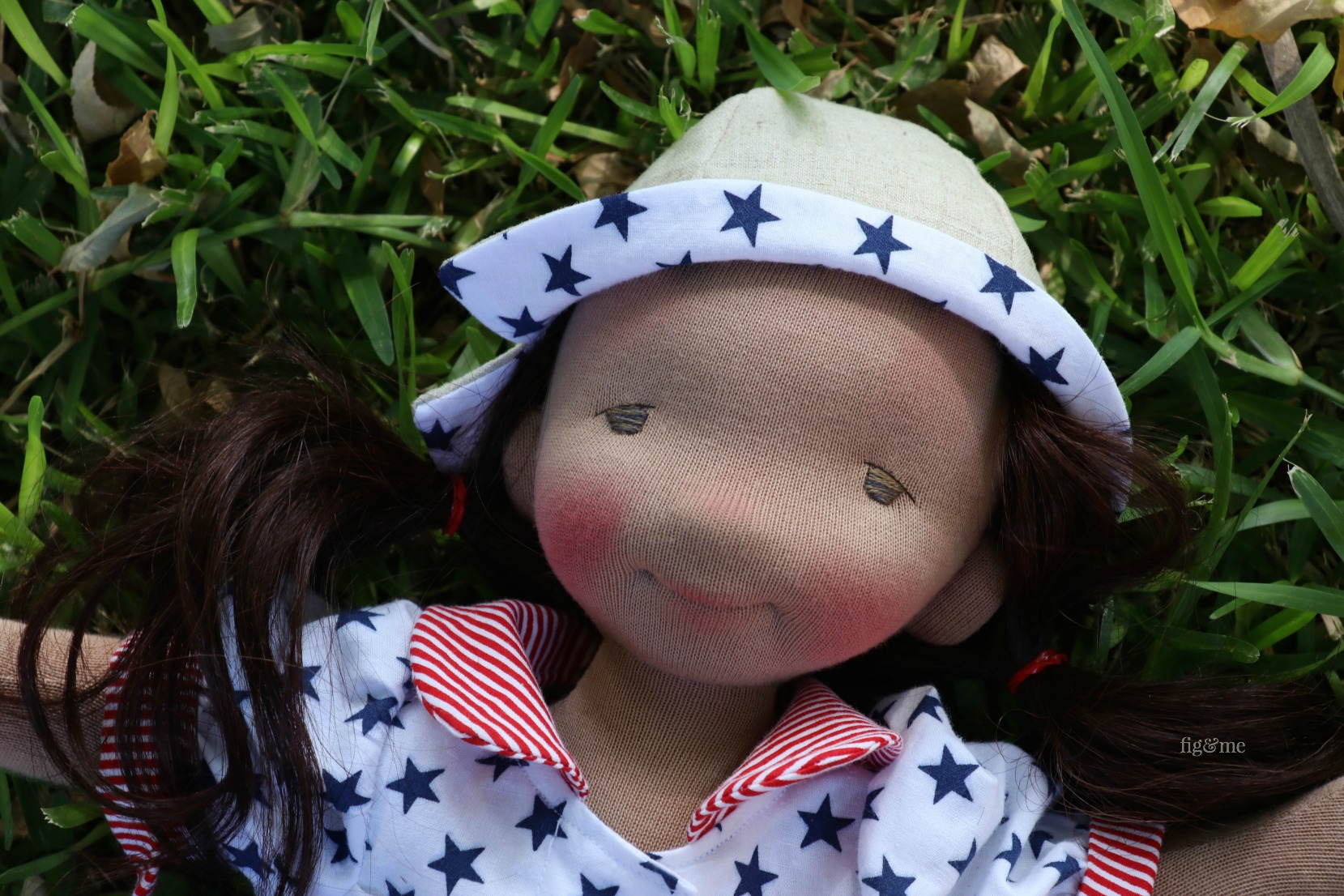 Eileen, a contemporary fiber art doll by Fig and Me.