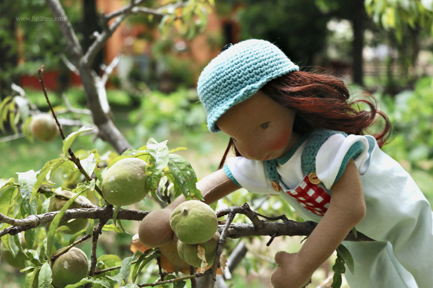 Eileen, a natural cloth art doll by Fig and Me.