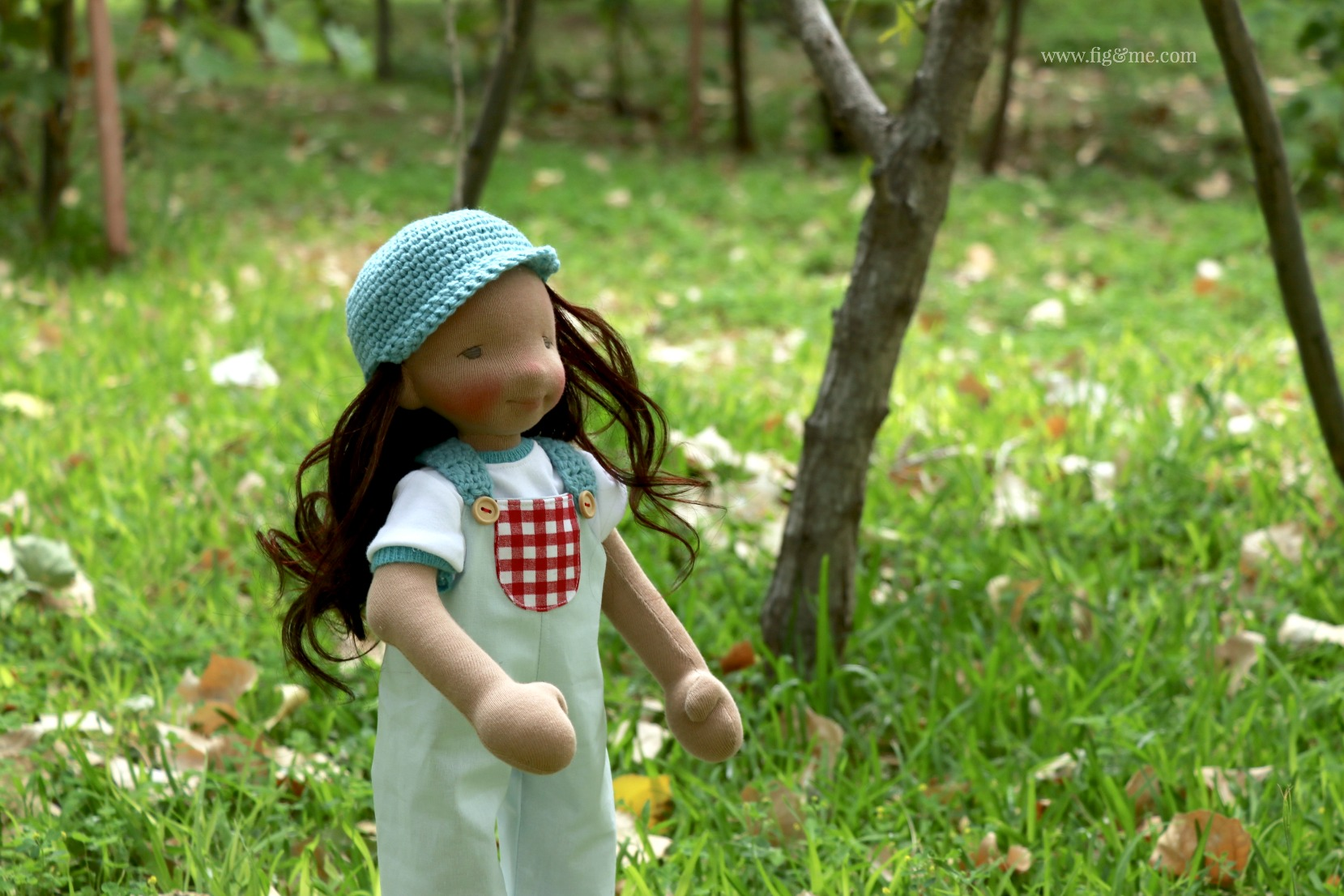 Eileen in the garden, by Fig and Me.
