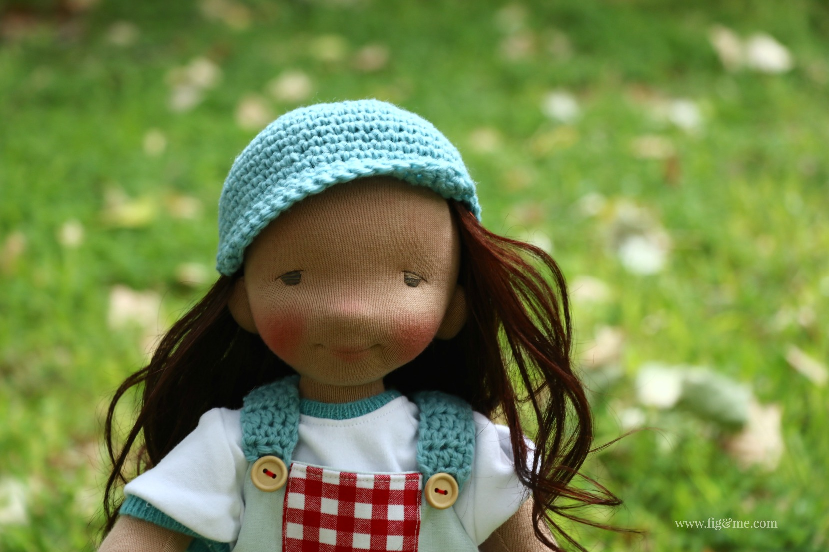 Sweet Eileen, a custom made Figlette doll by Fig and Me.
