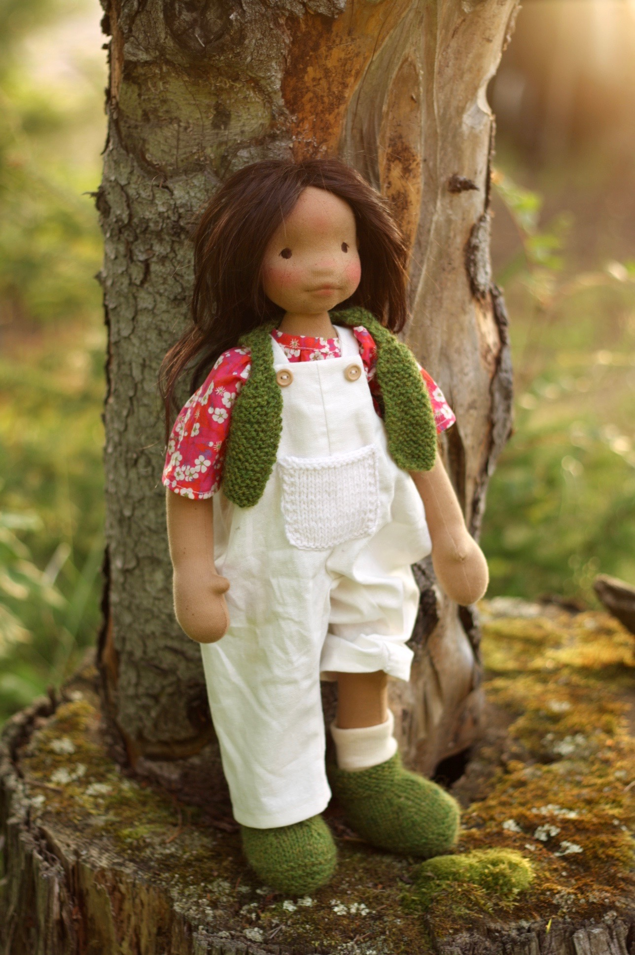 Cedar, a natural cloth art doll by Fig and Me.
