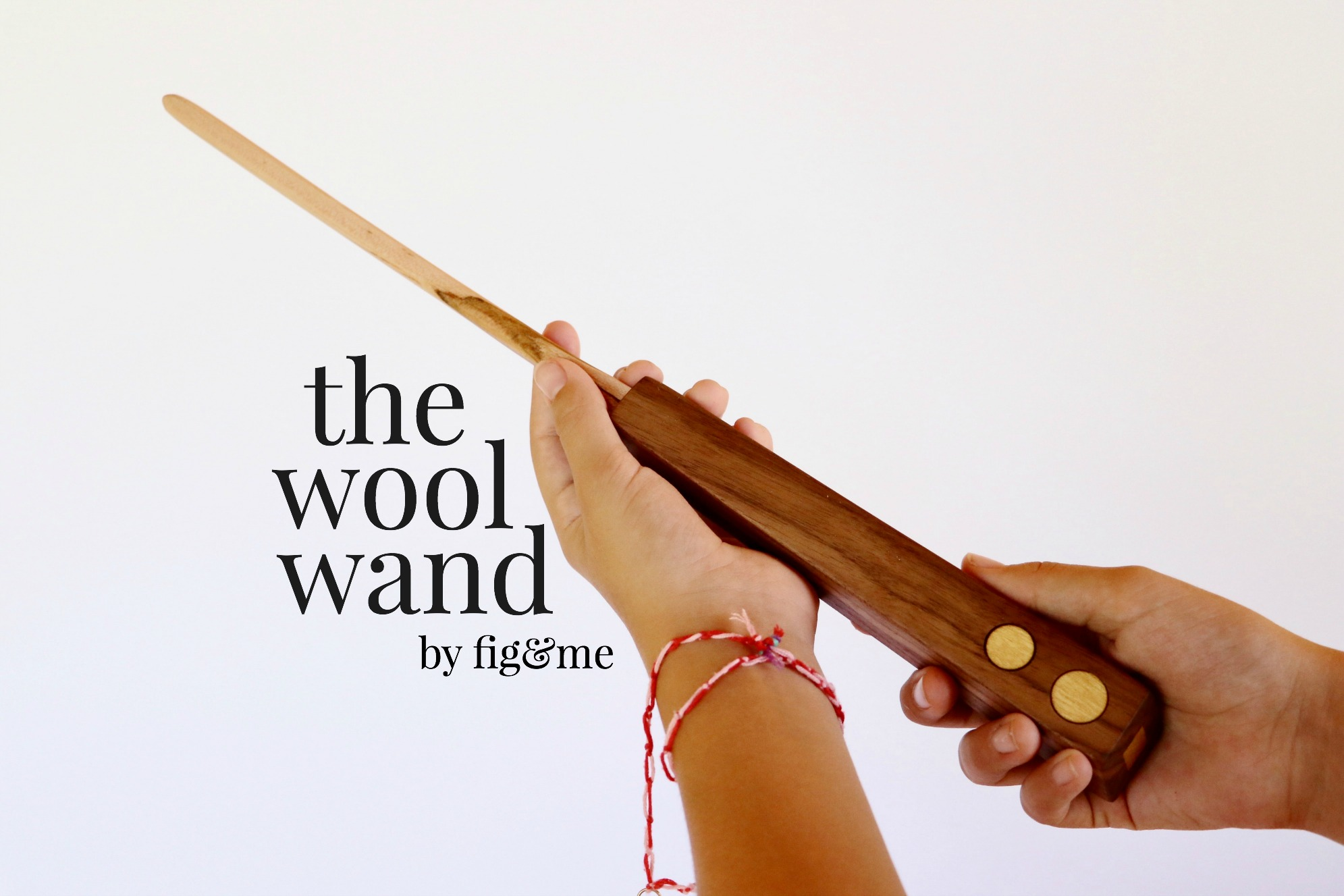 The wool wand is a wooden tool for stuffing your doll with rolled wool. By Fig and Me.
