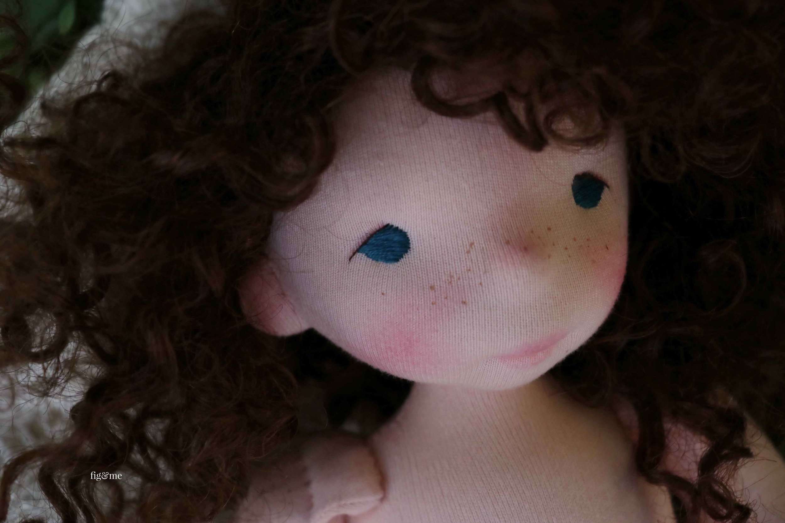 Pia, a contemporary art doll by Fig and Me.