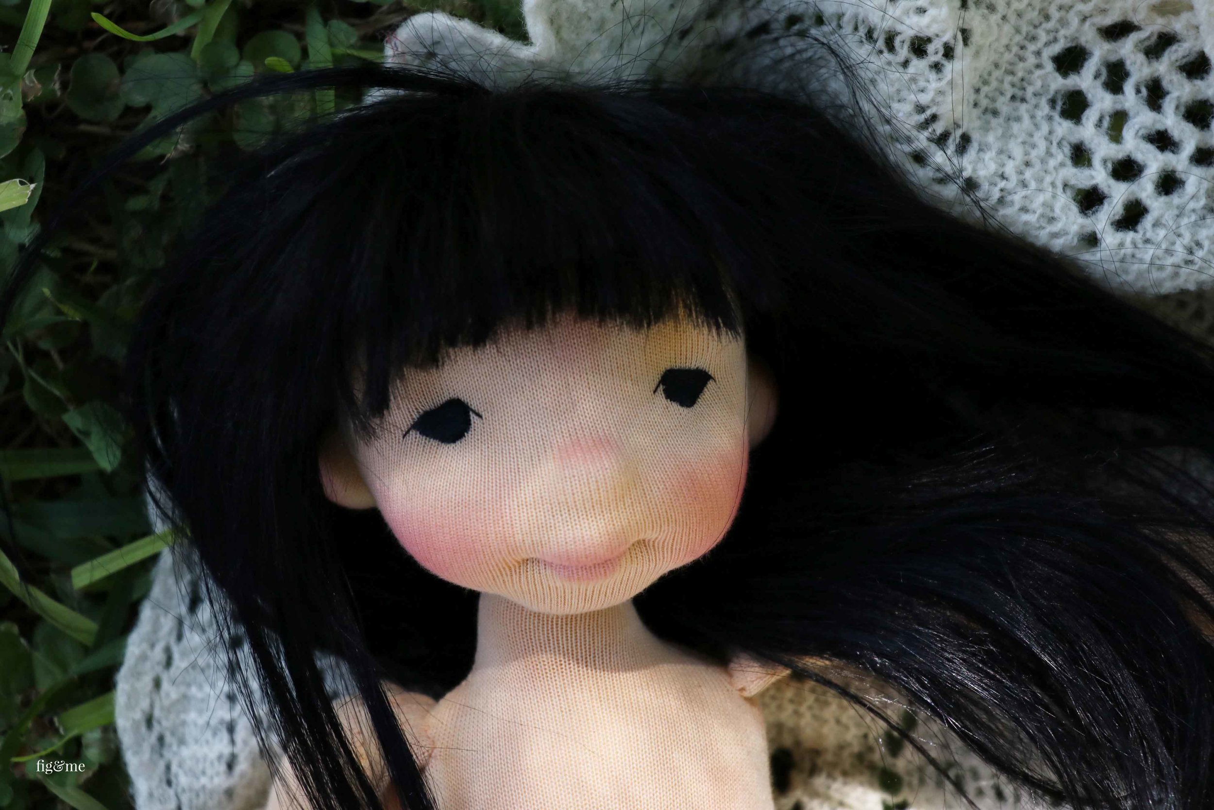 Aoki, a natural doll by Fig and Me.