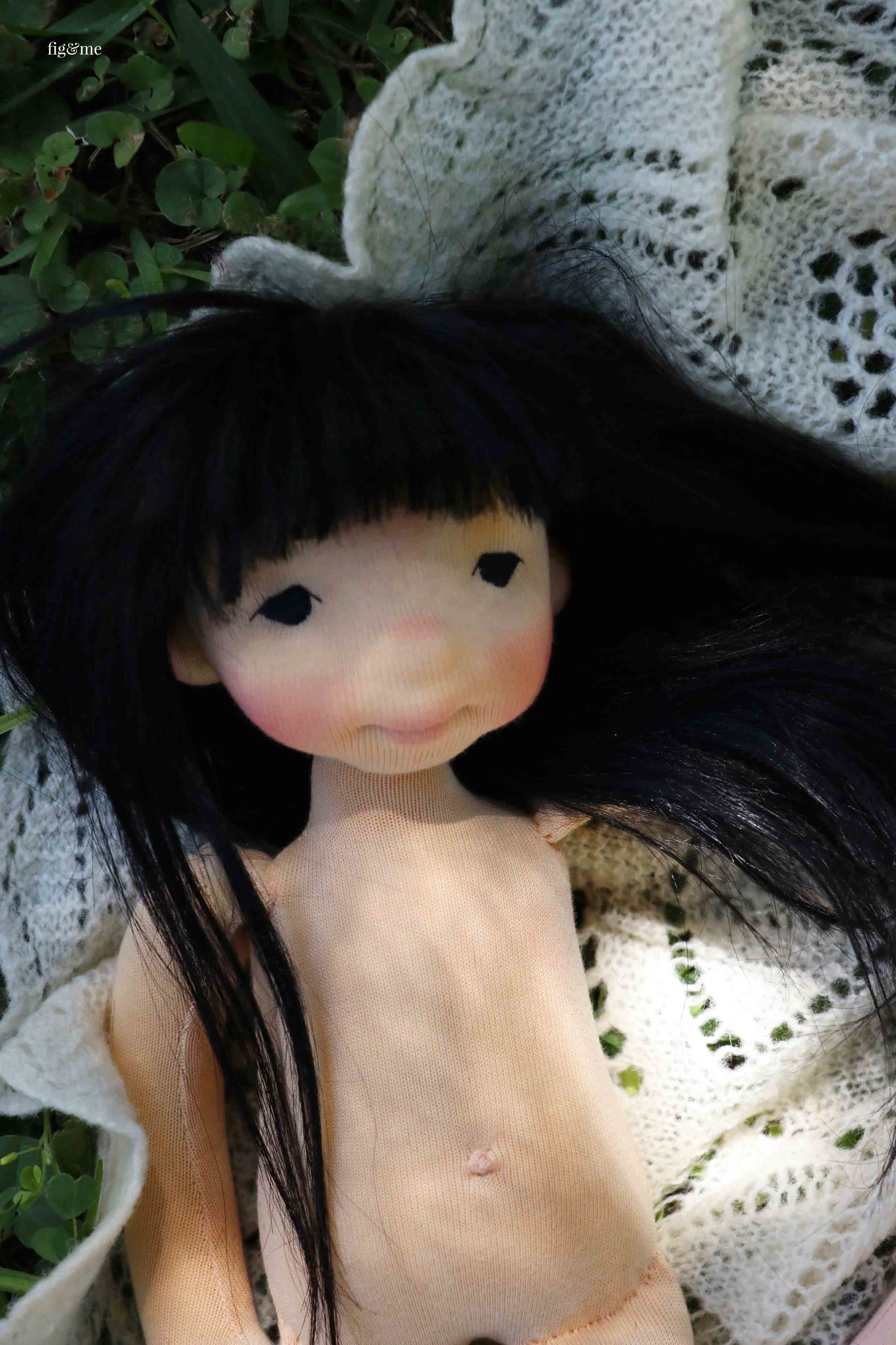 Little Aoki, a custom doll by Fig and Me.