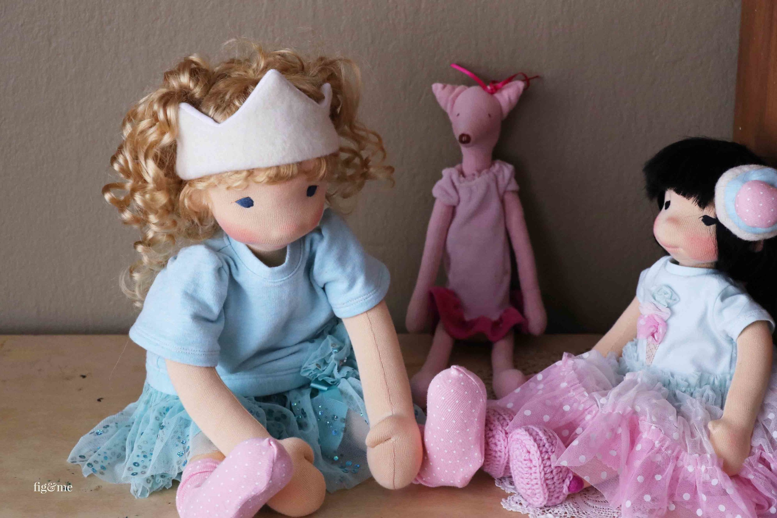 Dolls at play, by Fig and Me.