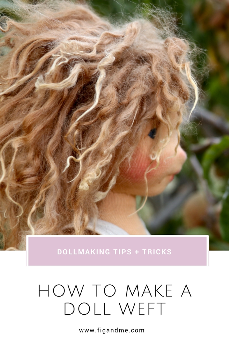 A sweet tutorial on how to turn Suri Alpaca locks into a weft and use it for doll hair. via Fig and Me.
