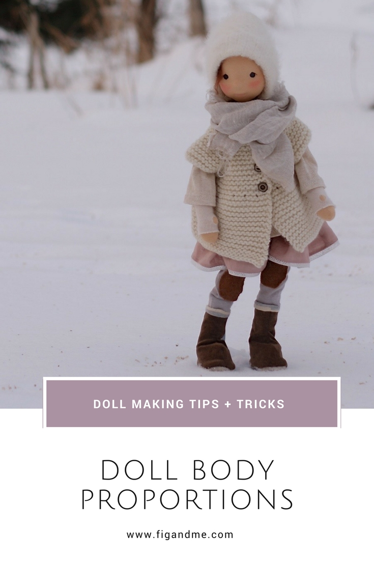 When you want to modify a doll pattern or create your own from scratch, some questions arise. Let's learn about how to design a doll pattern with the proportions you are after. via Fig and Me. #dollmaking #patterndesign #dollmakingskills