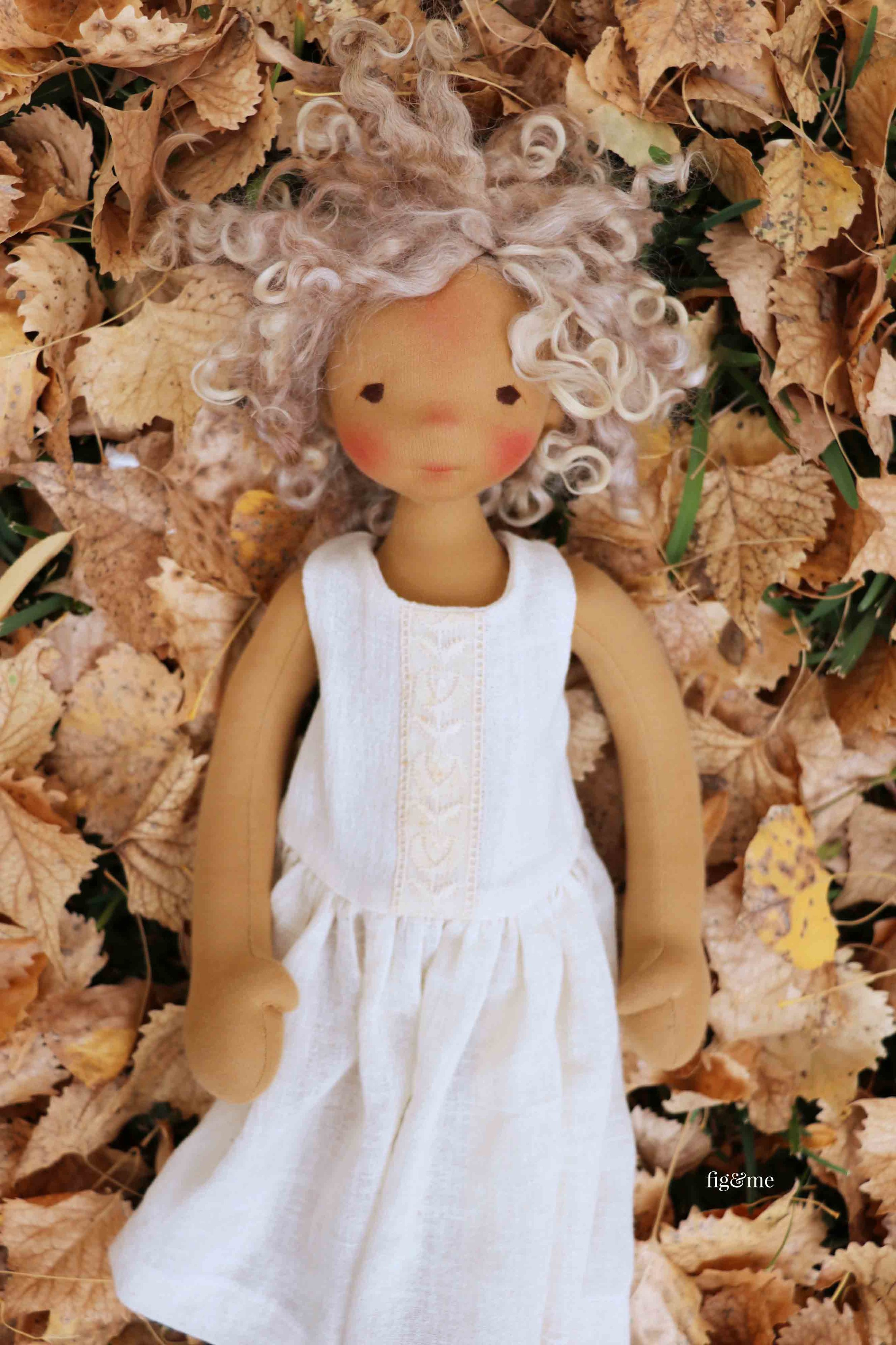 Winter in her cotton gauze under garments, by fig and me.