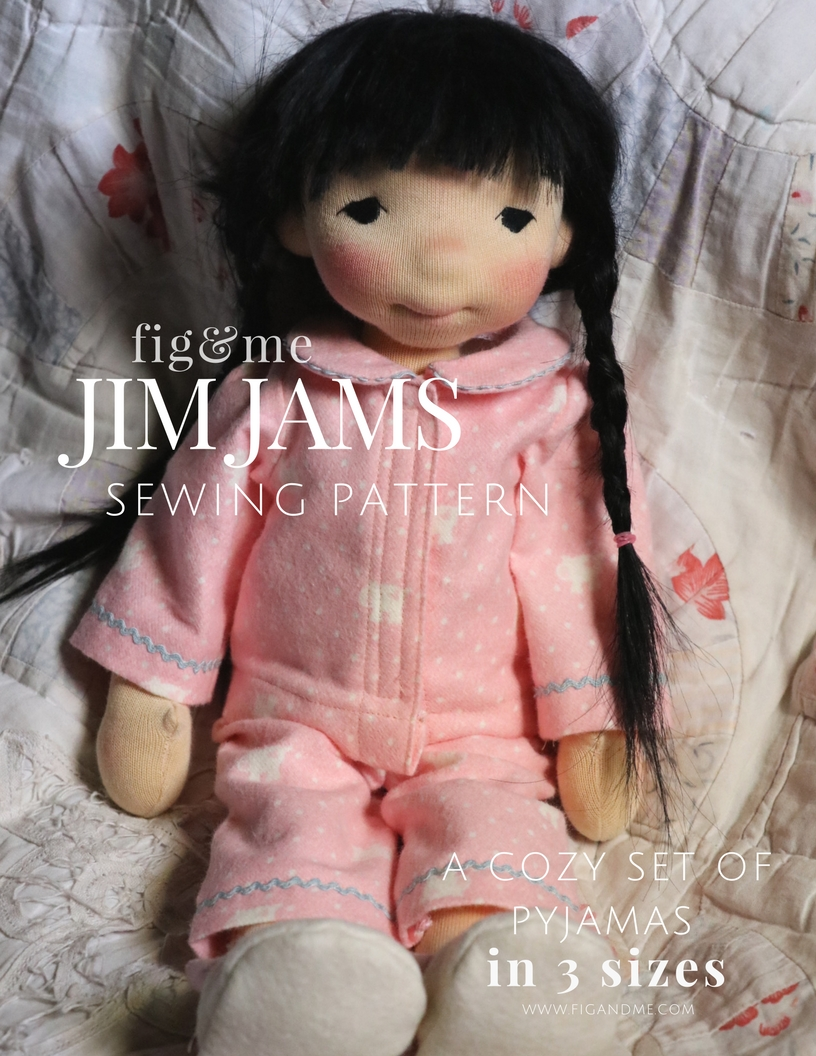 JimJams is a doll clothing pattern that helps you create this beautiful set of clothes for your waldorf or natural fiber art doll. via Fig and Me.