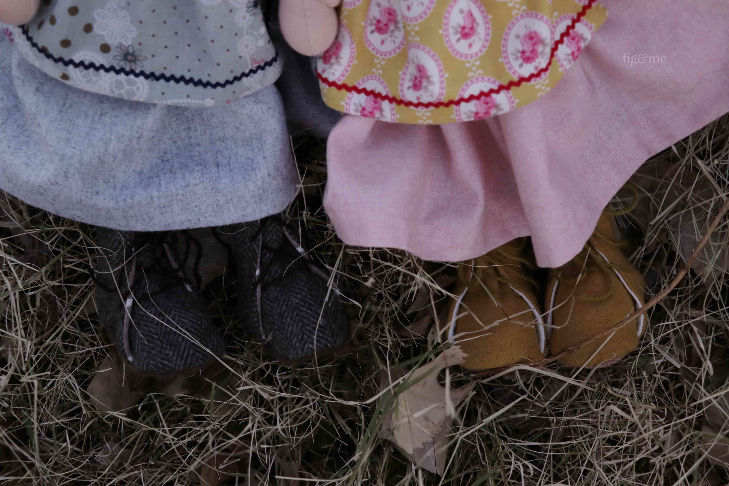 Lovely tall boots, meant to go on many nature walks. By Fig and Me.