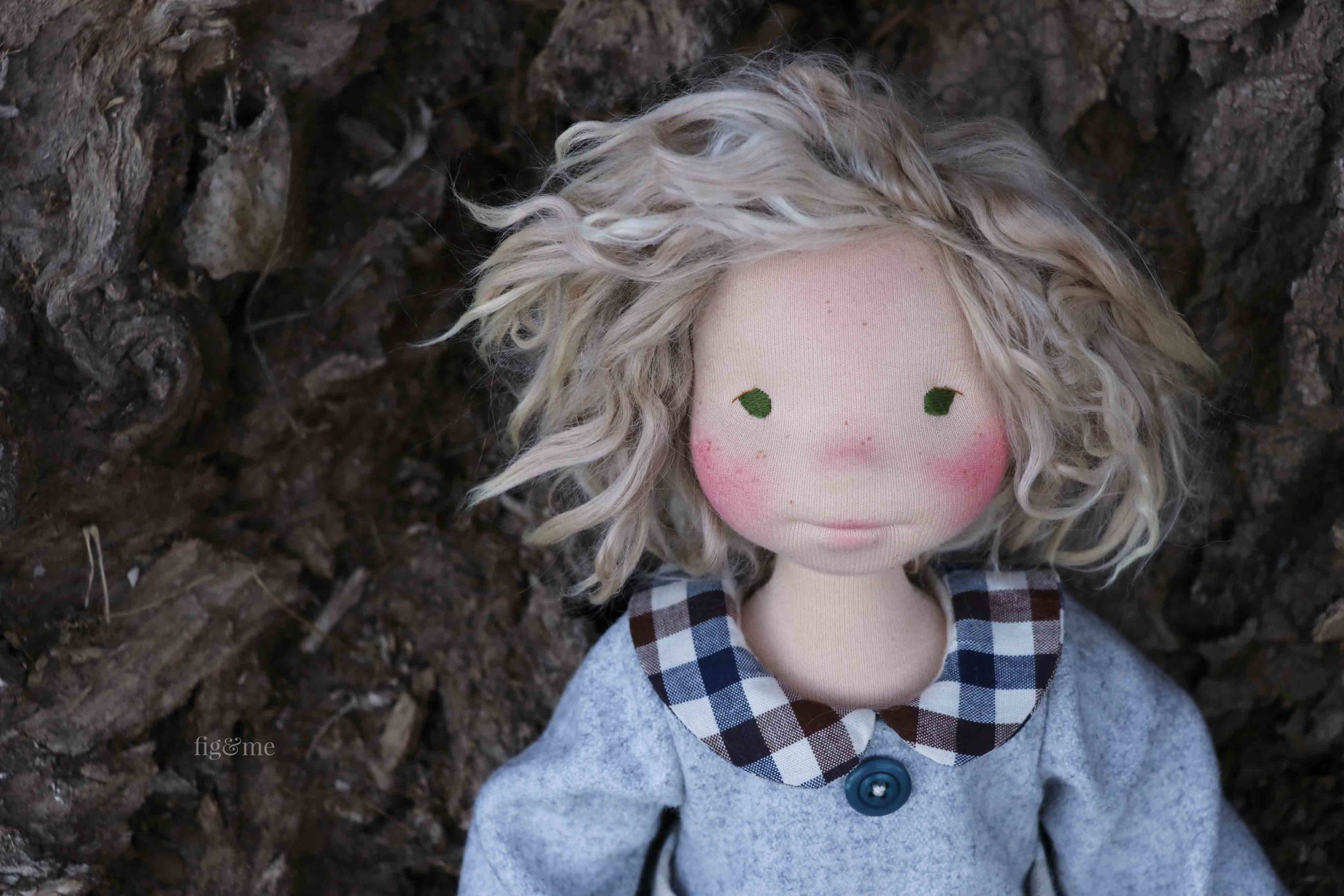 Snow White wears her wool flannel dress, by Fig and Me.
