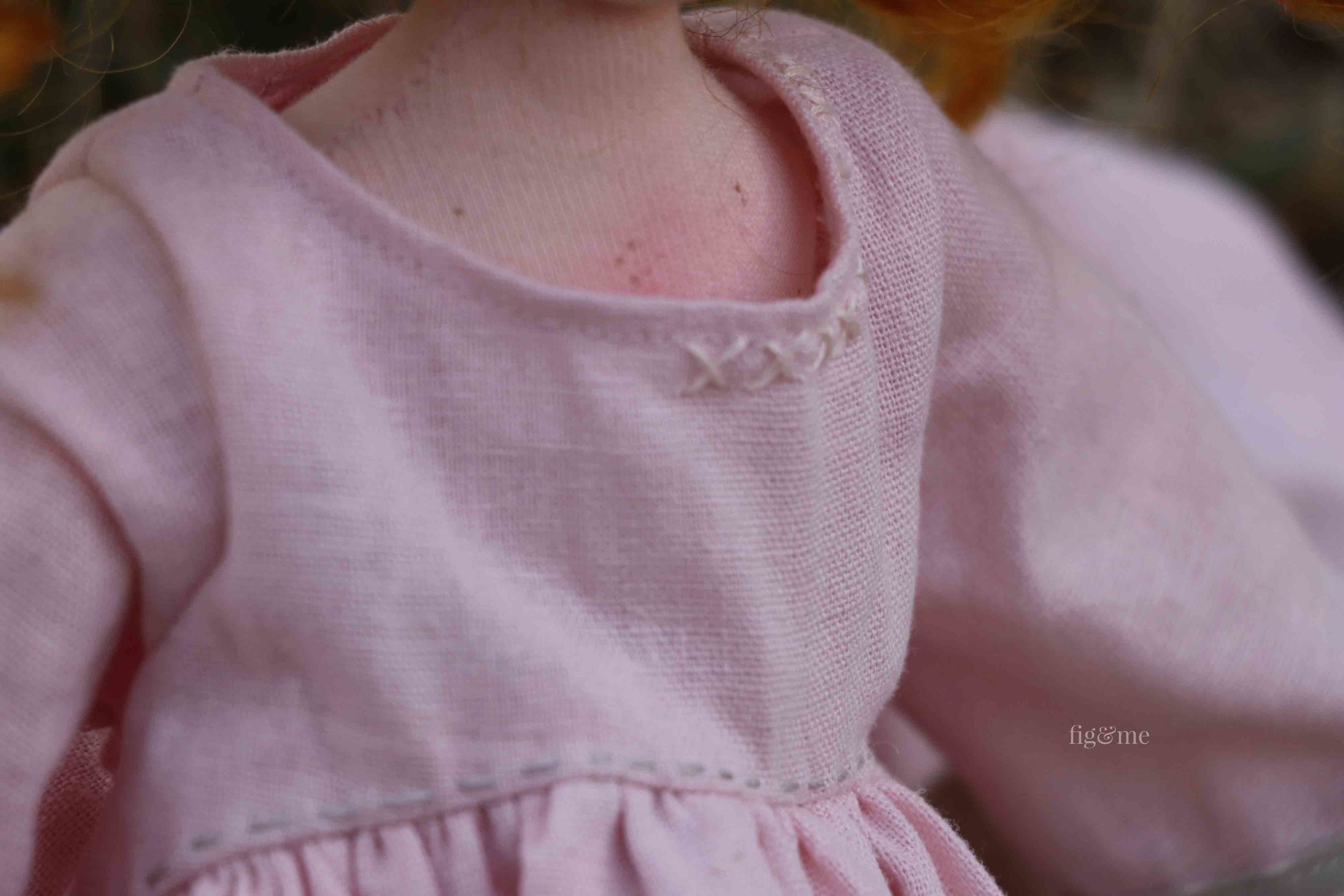 Details of doll clothing, by Fig and Me.