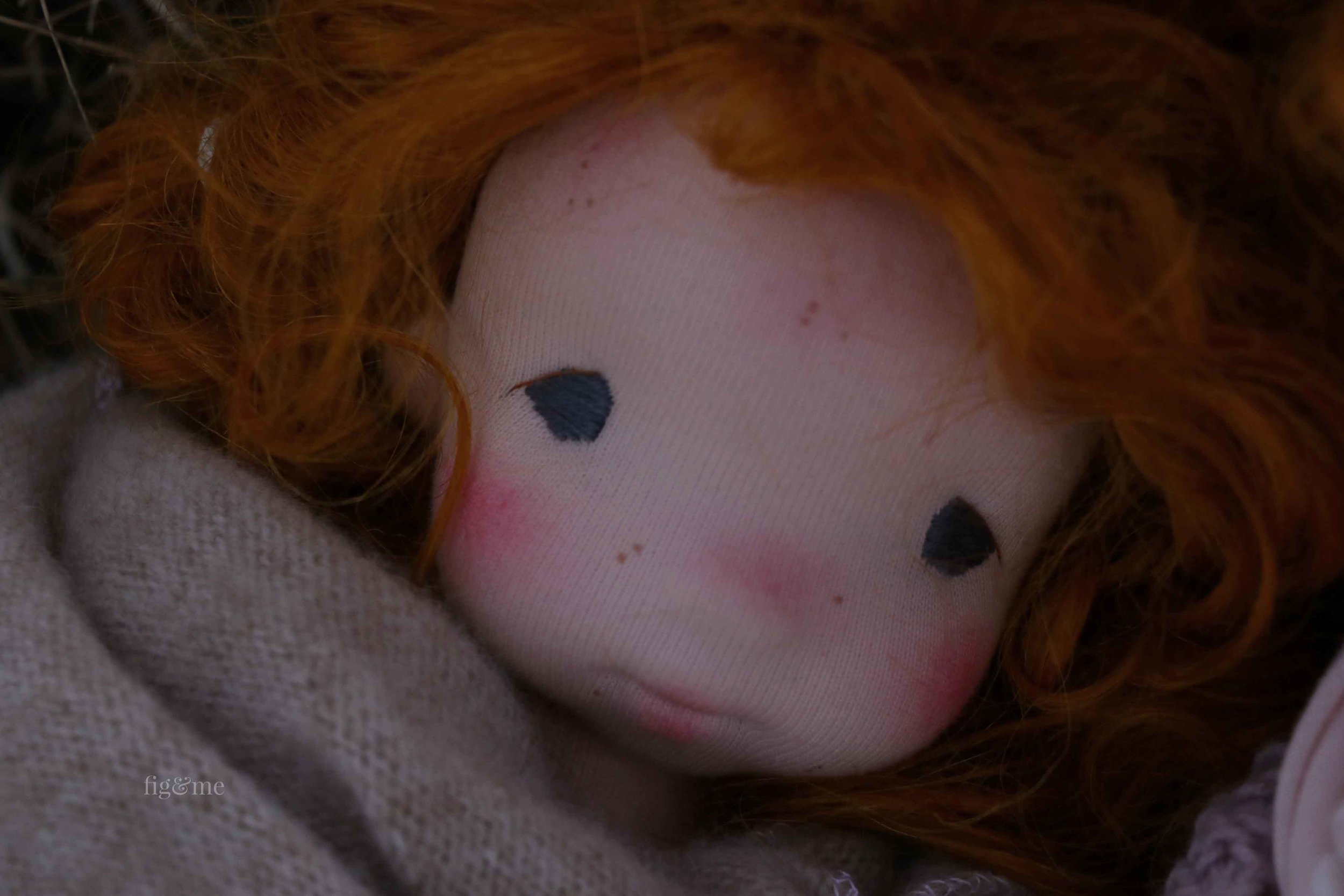 Maggie, a little scoundrel by Fig and Me. art doll.