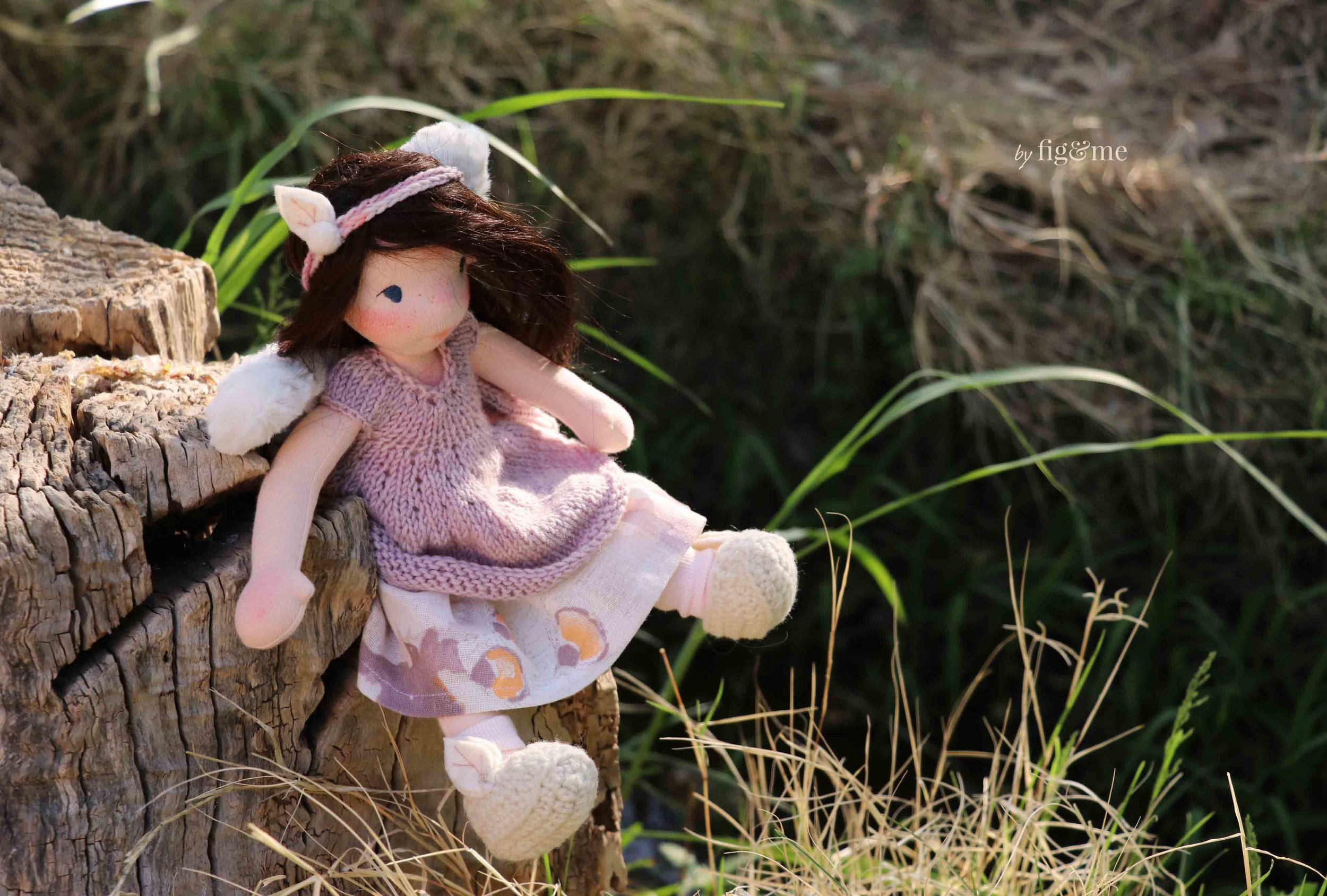 Annke, a natural fiber art doll by Fig and Me.
