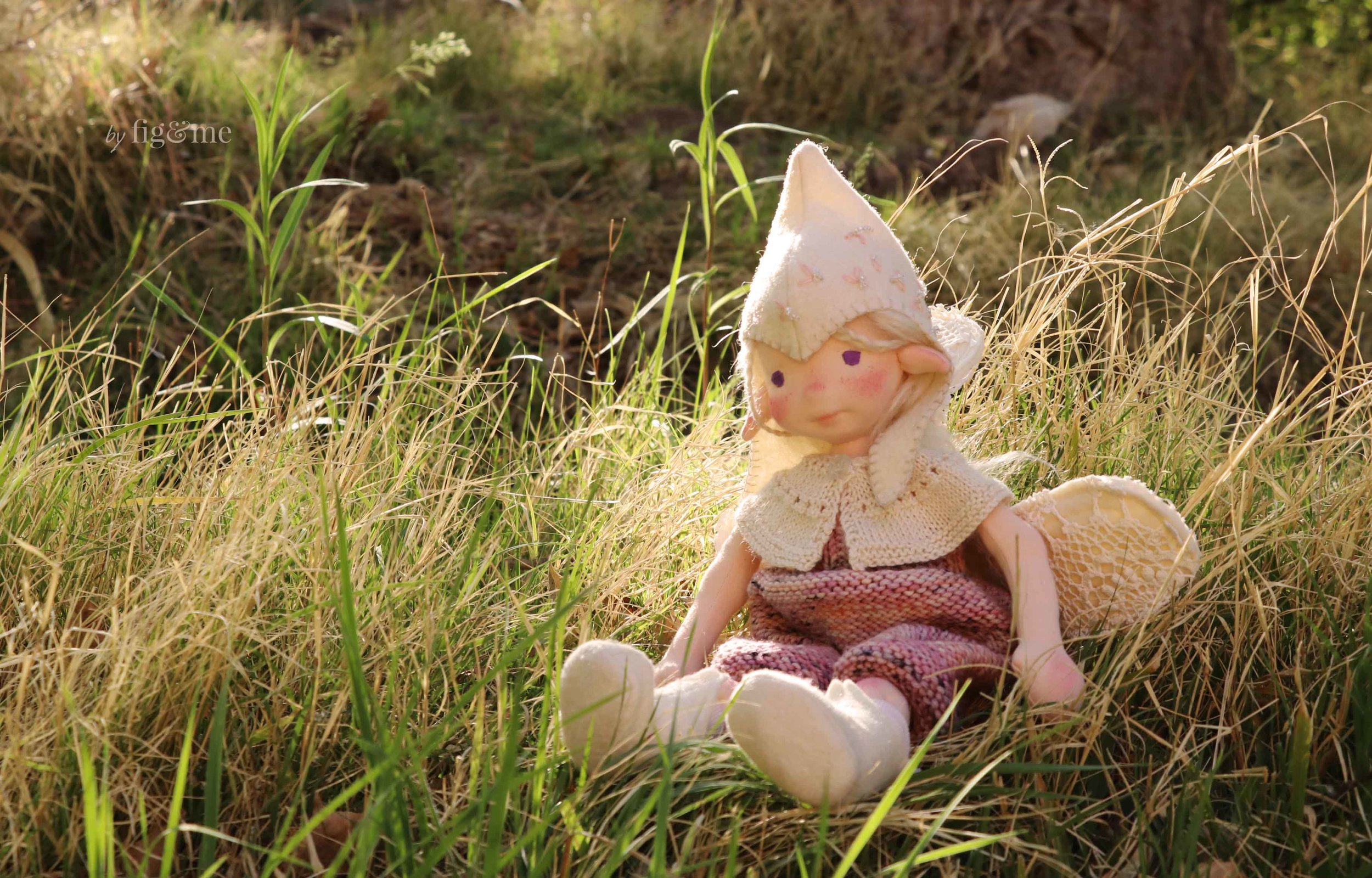 Maedhbhina, a natural fiber art doll by Fig and Me.