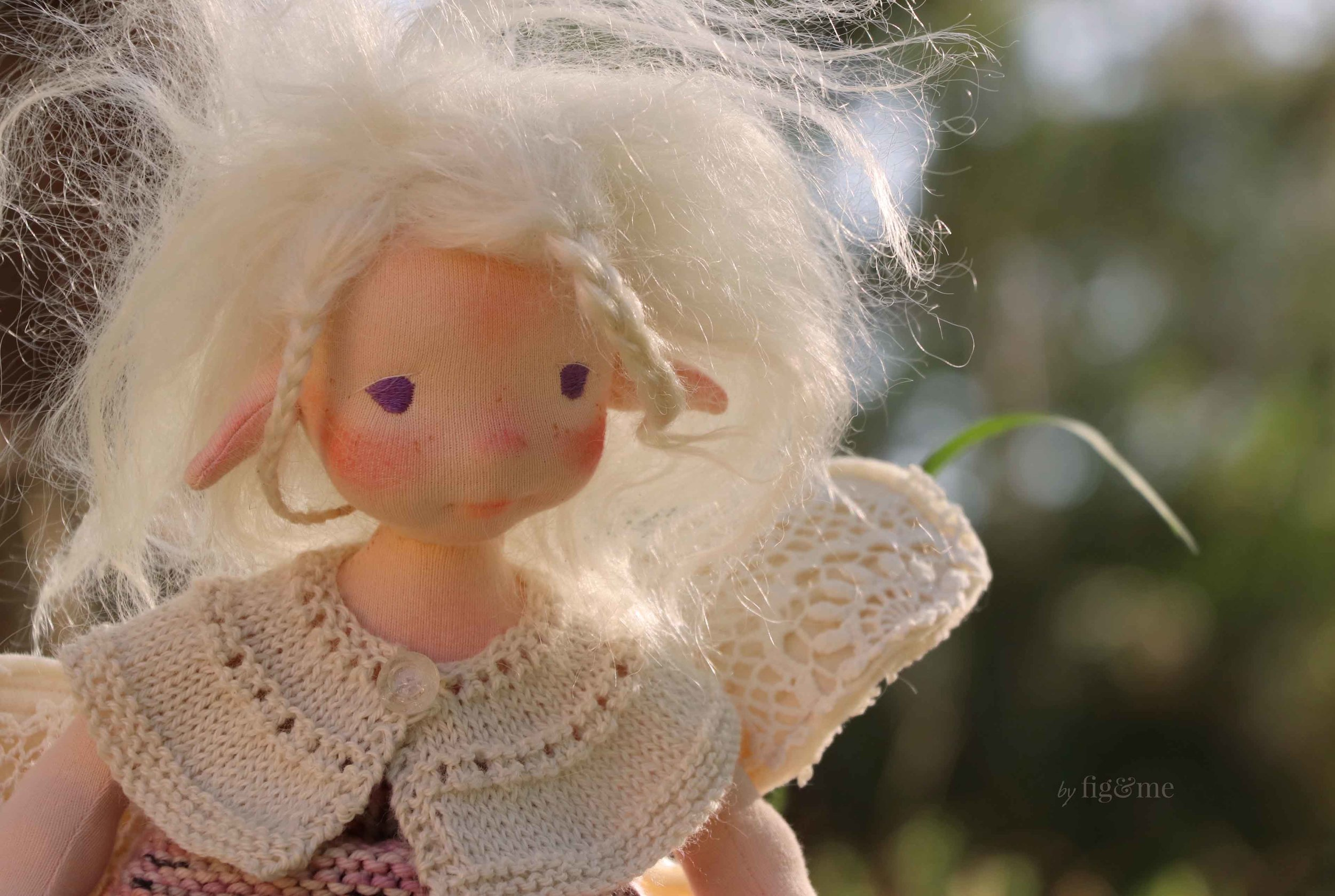 Maedhbhina and her crazy hair, a spring fairy by Fig and Me.