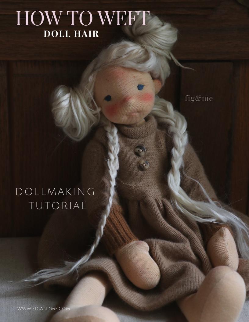 Dollmaking tutorial, how to make a doll weft (using Suri Alpaca locks). via Fig and Me.