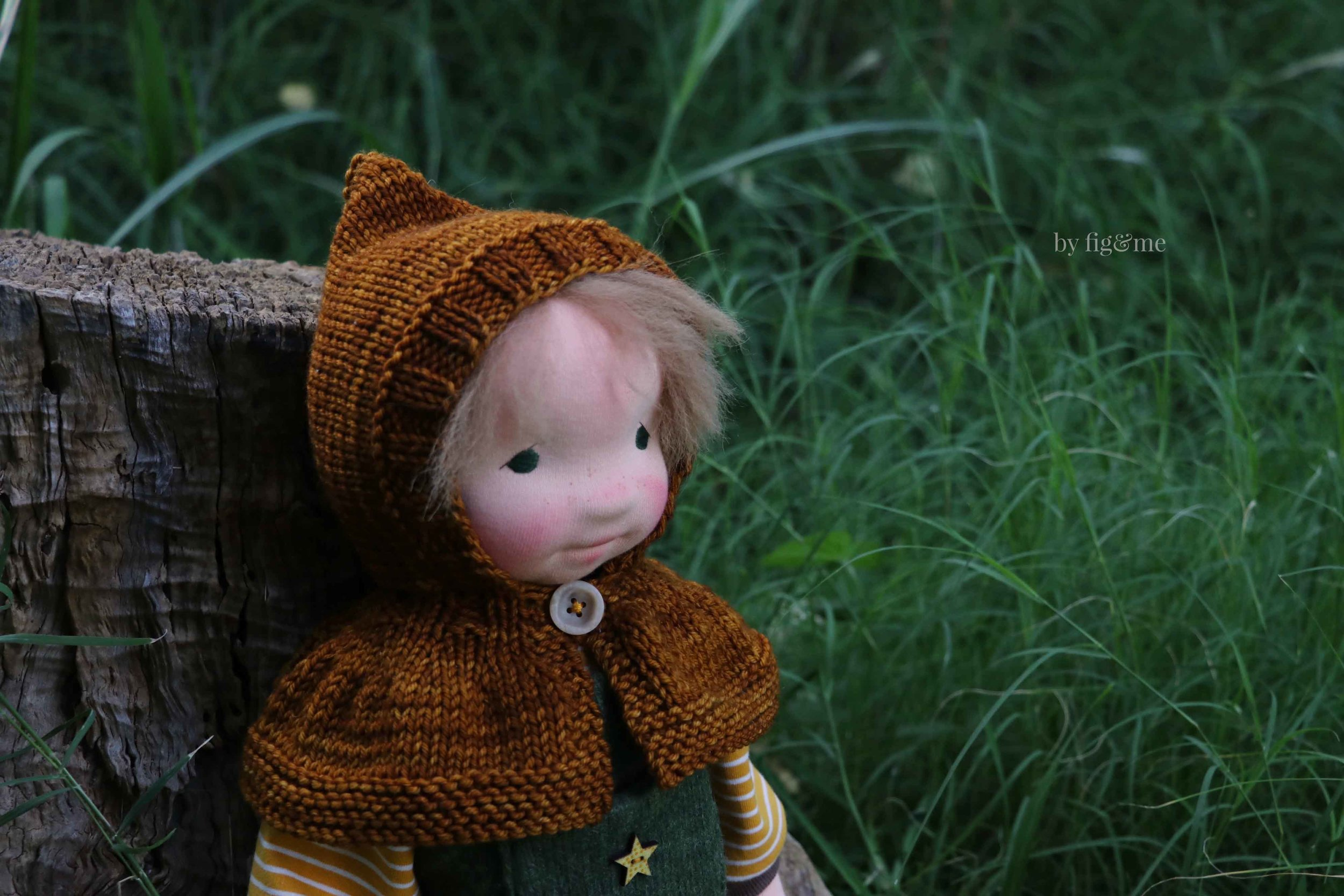 Wulfric, natural fiber art doll by Fig and Me.
