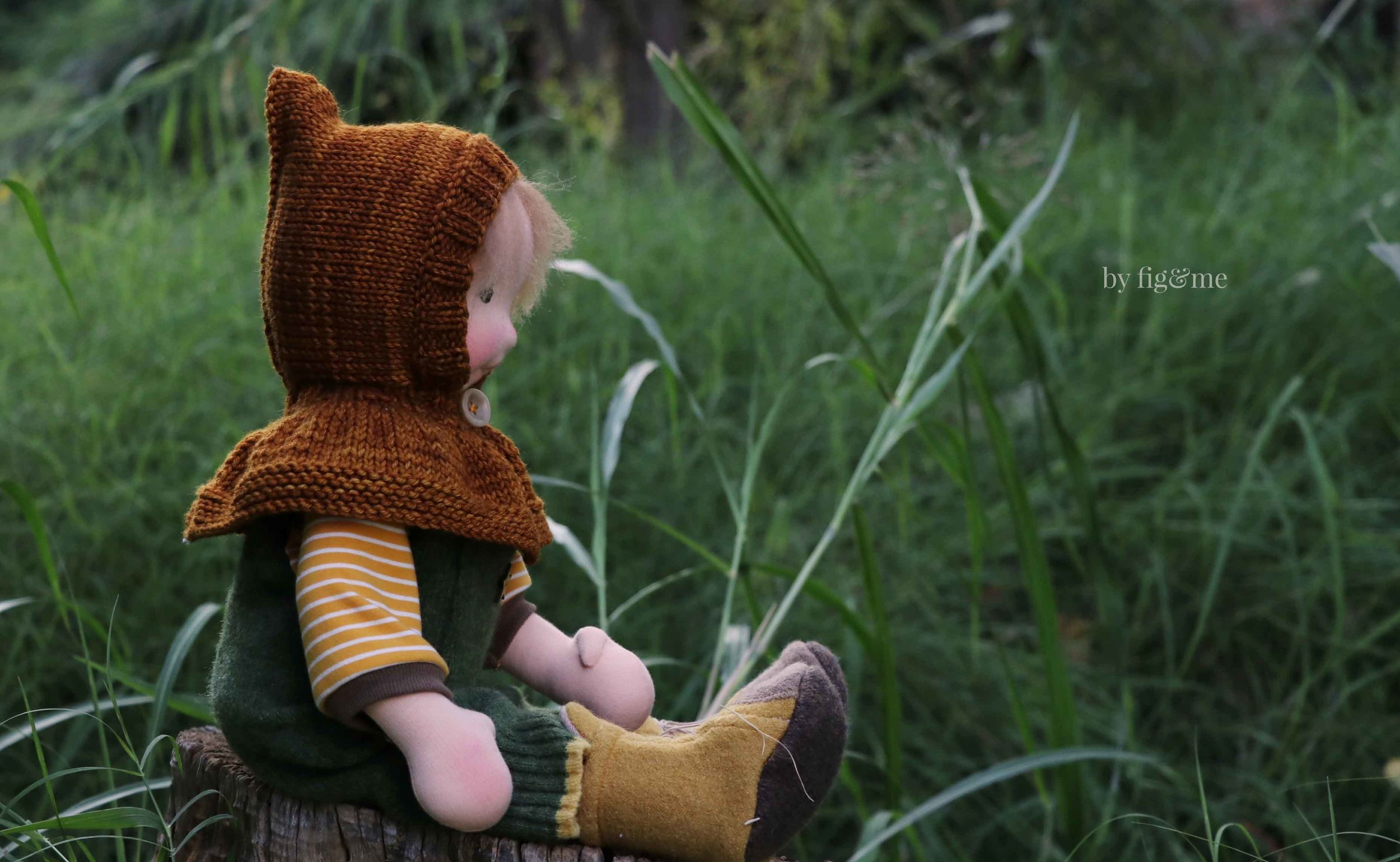 Wulfric, a natural art doll by Fig and Me.